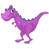 Cartoon Character Dino. Isolated on White Background vector illustration