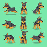Cartoon character doberman dog poses Stock Images