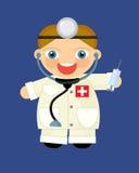 Cartoon character - doctor Stock Image