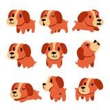 Cartoon character dog poses set Stock Photography