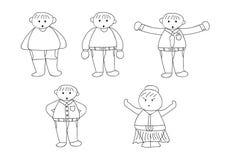 Cartoon character doodle Stock Photo
