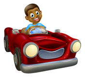 Cartoon Character Driving Car Royalty Free Stock Photo