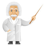 Einstein. Cartoon Character Einstein Isolated on White Background. Vector EPS 10 royalty free illustration