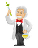 Einstein. Cartoon Character Einstein Isolated on White Background. Vector EPS 10 stock illustration