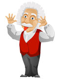 Einstein. Cartoon Character Einstein Isolated on White Background. Vector EPS 10 vector illustration