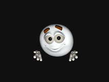 Cartoon character emoticon. 3d render of emoticon cartoon character Stock Photography