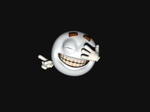 Cartoon character emoticon. 3d render of emoticon cartoon character Royalty Free Stock Photos