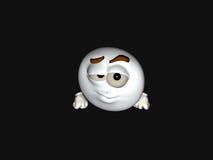 Cartoon character emoticon. 3d render of emoticon cartoon character Stock Photo