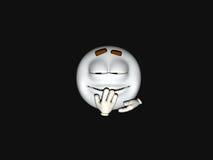 Cartoon character emoticon. 3d render of emoticon cartoon character Stock Photos