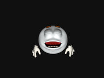 Cartoon character emoticon. 3d render of emoticon cartoon character Royalty Free Stock Image