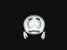 Cartoon character emoticon. 3d render of emoticon cartoon character Royalty Free Stock Images