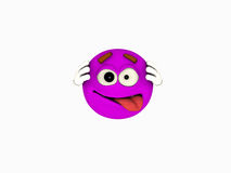 Cartoon character emoticon Royalty Free Stock Images