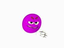 Cartoon character emoticon. 3d render of emoticon cartoon character Stock Image