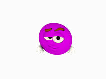 Cartoon character emoticon Royalty Free Stock Image