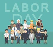 Labor Day Worker Occupation Cute Characters Cartoon Vector Illustration. Cartoon Character EPS10 File Format Stock Photo