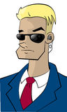 Cartoon character FBI-guy. Cartoon character of some sort of FBI-guy, without background Royalty Free Stock Images