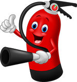 Cartoon Character of fire extinguisher giving thumb up Stock Image