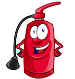 Cartoon Character of fire extinguisher Stock Images