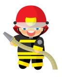 Cartoon character - fireman Royalty Free Stock Image