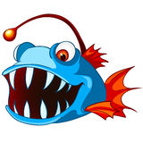 Cartoon Character Fish. Isolated on White Background Royalty Free Stock Photography