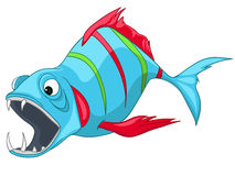 Cartoon Character Fish. Isolated on White Background Royalty Free Stock Photo
