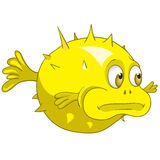 Cartoon Character Fish Urchin Stock Photography