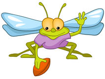 Cartoon Character Fly Royalty Free Stock Photo