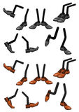 Cartoon character foots in shoes Stock Images
