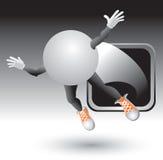 cartoon character framed ping pong silver Стоковые Фото