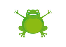 Cartoon Character Frog vector Royalty Free Stock Image