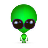 Cartoon Character Funny Alien Royalty Free Stock Images
