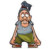 Cartoon character funny man with a mustache Stock Photography