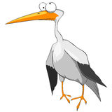 Cartoon Character Funny Stork Stock Images