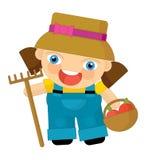Cartoon character - gardener Royalty Free Stock Photos