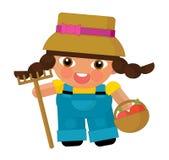 Cartoon character - gardener isolated Royalty Free Stock Photo