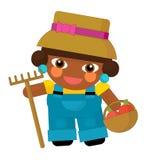 Cartoon character - gardener isolated Royalty Free Stock Image