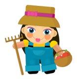 Cartoon character - gardener isolated Royalty Free Stock Photography