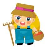 Cartoon character - gardener isolated Stock Images