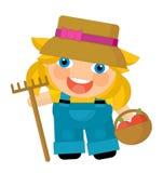 Cartoon character - gardener isolated Stock Photo