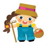 Cartoon character - gardener isolated Stock Image