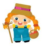 Cartoon character - gardener isolated Royalty Free Stock Photos