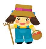 Cartoon character - gardener isolated Stock Photos
