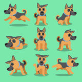 Cartoon character german shepherd dog poses Stock Photography