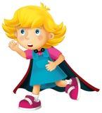 Cartoon character - girl - halloween Stock Image