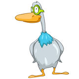 Cartoon Character Goose Royalty Free Stock Photo