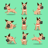 Cartoon character great dane dog poses Royalty Free Stock Photos