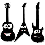 Cartoon character guitars Royalty Free Stock Photos