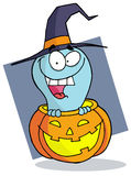 Cartoon character halloween ghost Stock Photography