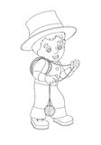 Cartoon character - halloween - illustration for t Royalty Free Stock Image