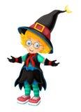 Cartoon character - halloween - isolated background Stock Image